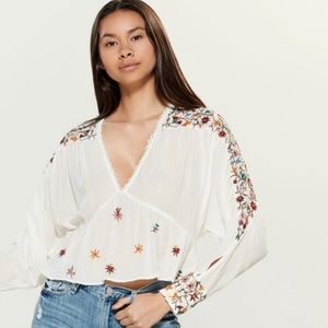 Free People | Ava embroidered blouse | Small